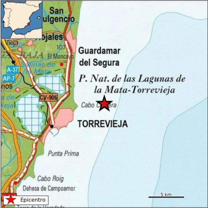 Vega Baja records its second earthquake of the week close to Torrevieja