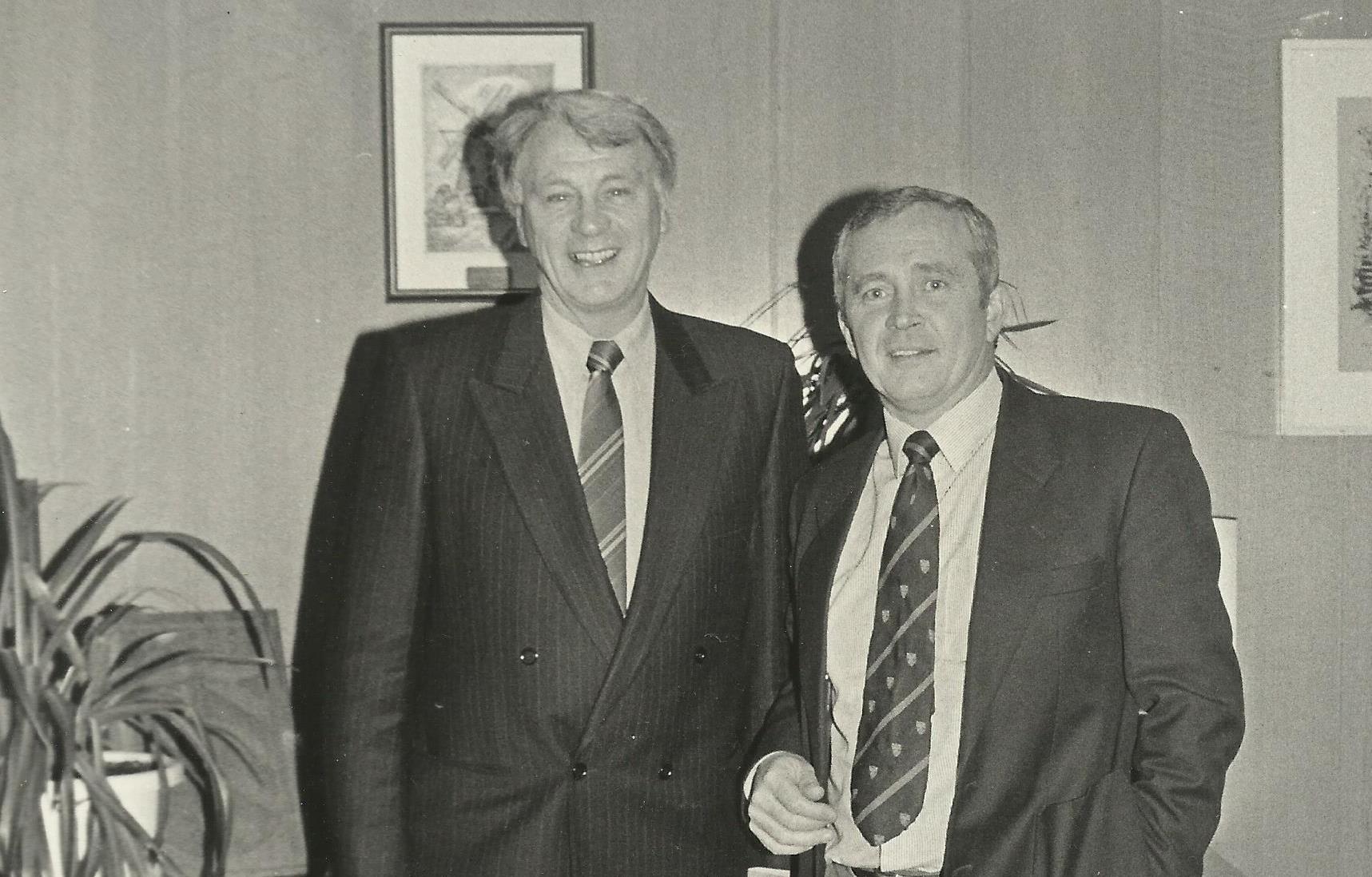 Kevin Reardon with Bobby Robson