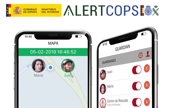 AlertCops is the citizen security alert service operated by the National Police and the Guardía Civil