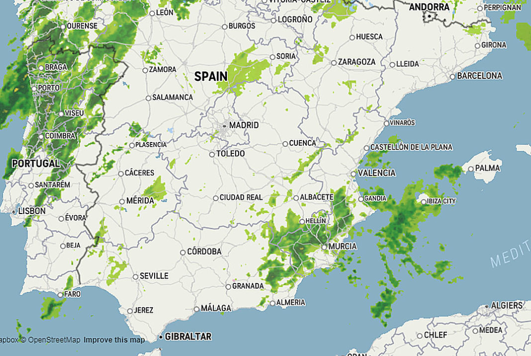 Weekend storms will continue to soak the Iberian Peninsula