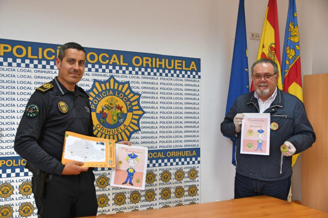 Orihuela Local Police produce children's activity books