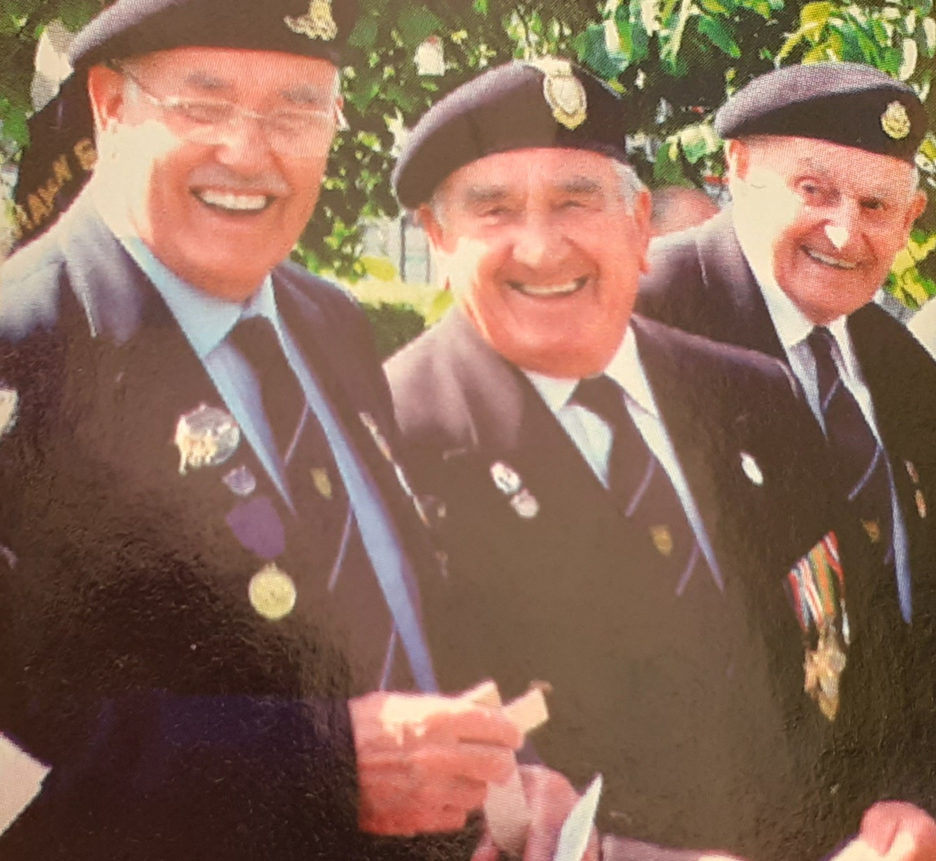 Jim and his friends from Normandy Vets D-Day 2005.