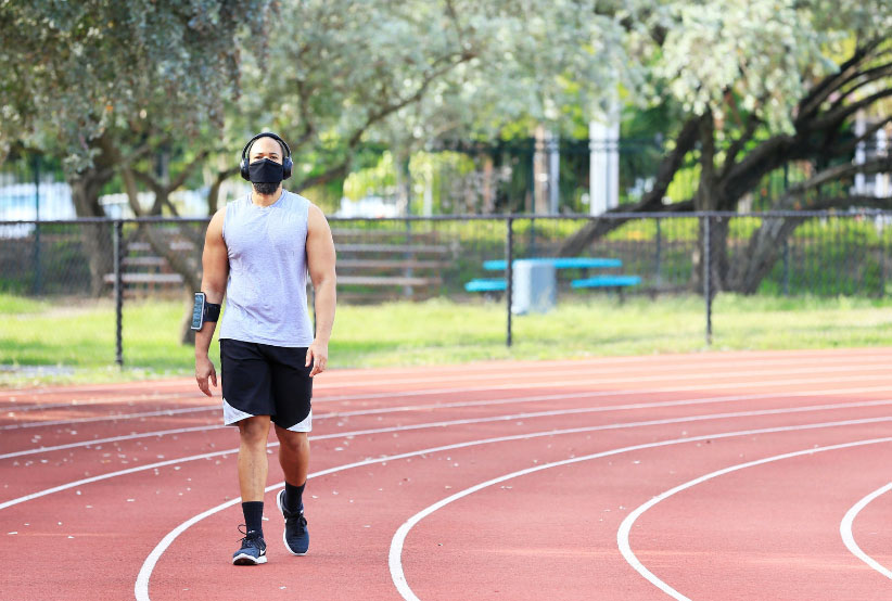Wearing masks will not be mandatory for sport
