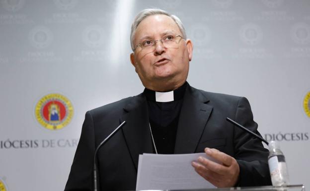 The Bishop of the Diocese of Cartagena, José Manuel Lorca Planes