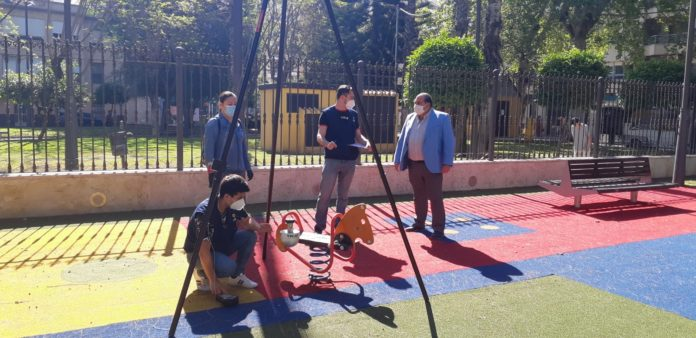 Inspection of playgrounds in the municipality of Orihuela