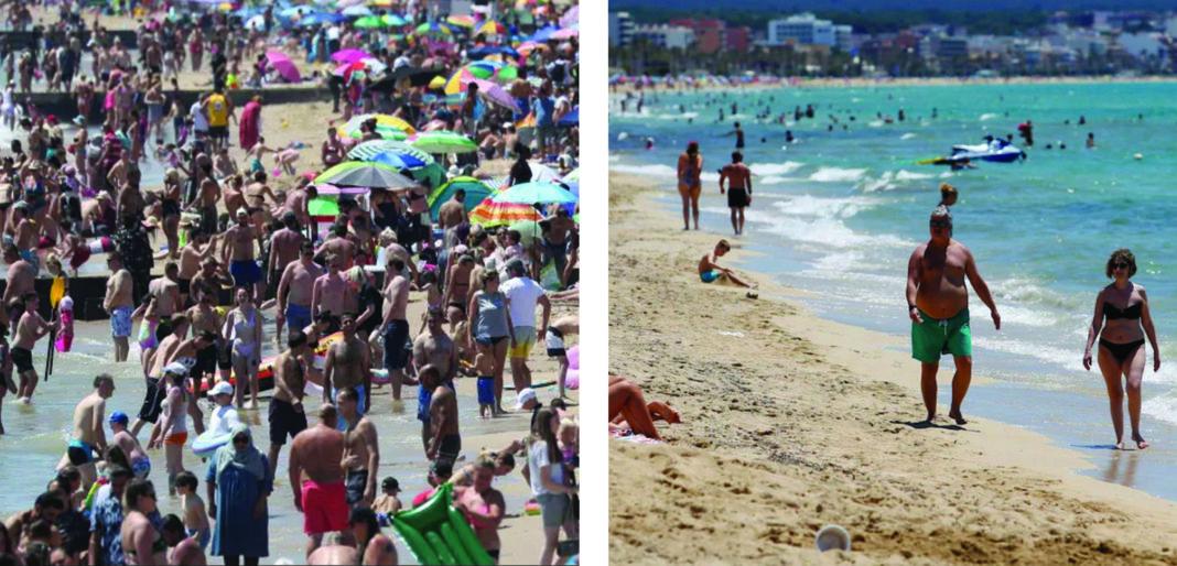 British press compares Benidorm and Bournemouth beaches