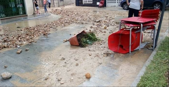 Deluge of rain and hail lead to flooding in Torrevieja