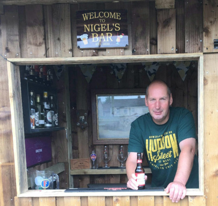 Nigel Johnson built his own bar amid COVID-19 lockdown.
