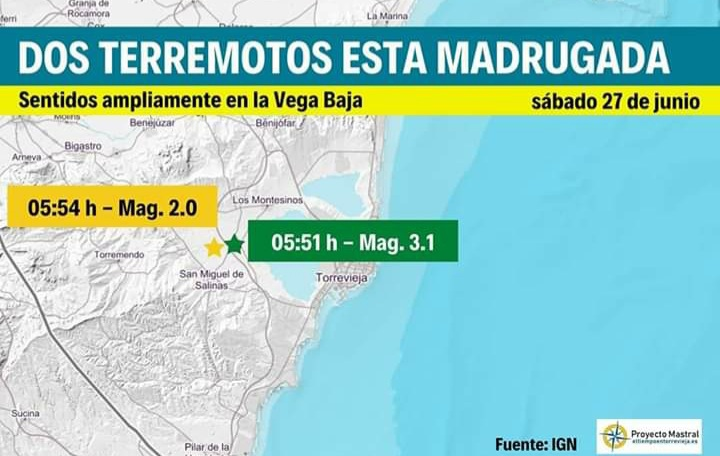 3.1 EARTHQUAKE HITS MONTESINOS