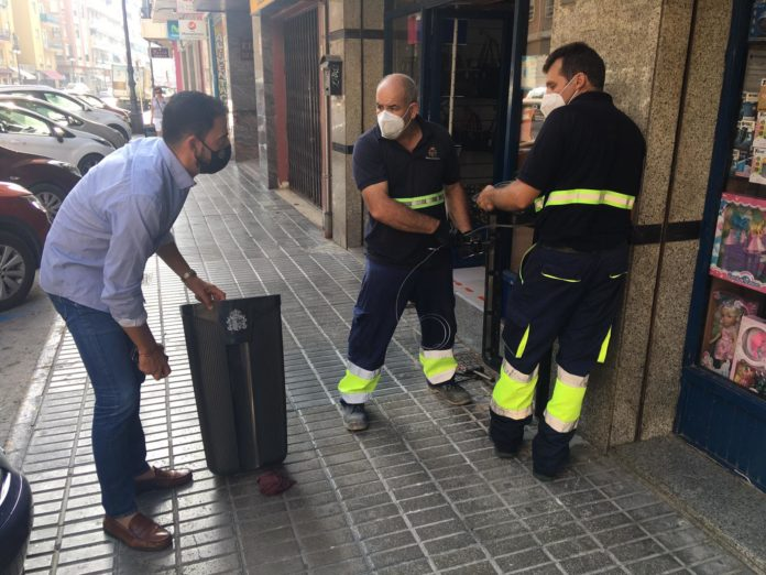 Almost 200 new bins on the streets of Orihuela
