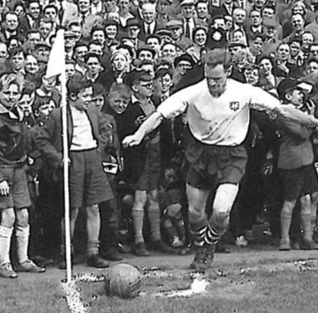 Finney takes a corner at a packed Deepdale!