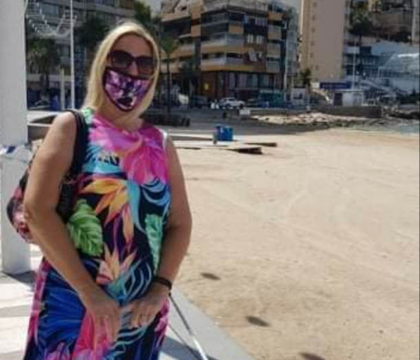 Masked Tracey in Benidorm.