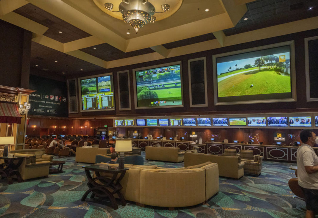 Almost all of the approximately 50 bets were placed using self-serve kiosks at the Bellagio resort