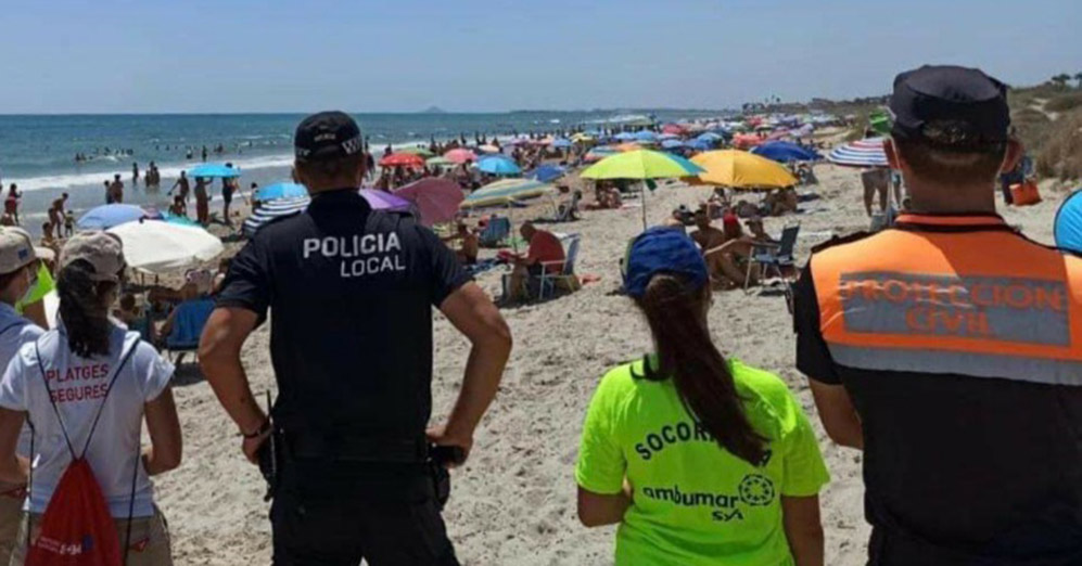 Security at Pilar de la Horadada beaches.