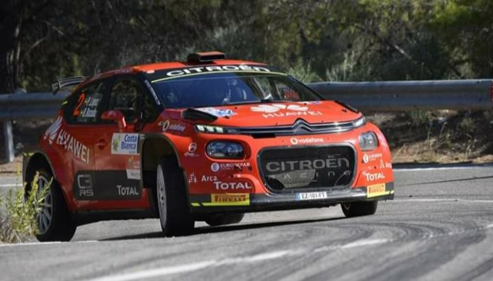 Marina Baixa in Relleu staging rally tests in Spanish Rally Championship