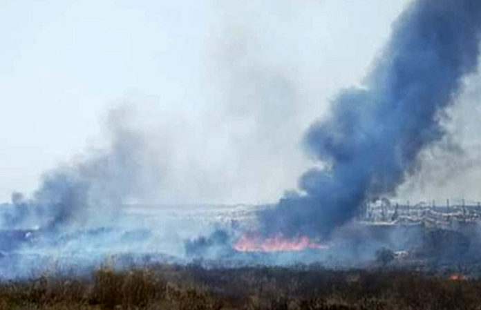 The bomberos were called out last wek to a fire in Los Montesinos