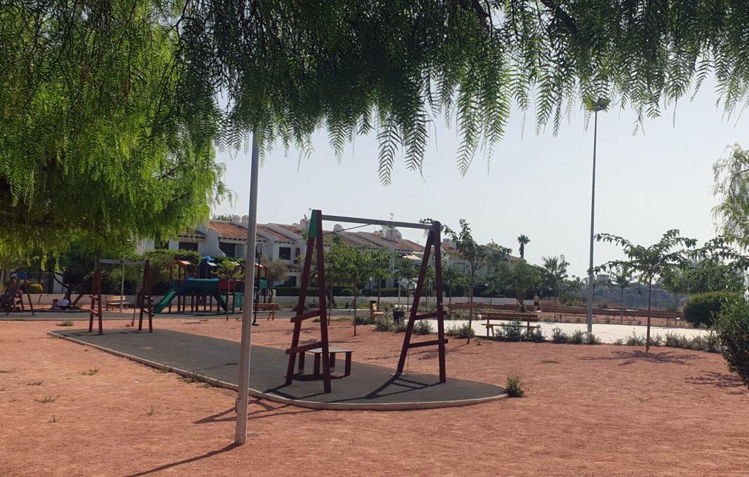 The children's playground at Aguamarina