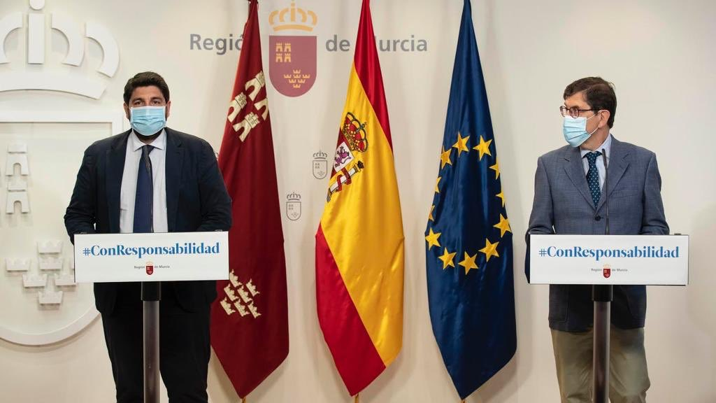 Fines of 100 euros for not wearing a mask in the Region of Murcia from today