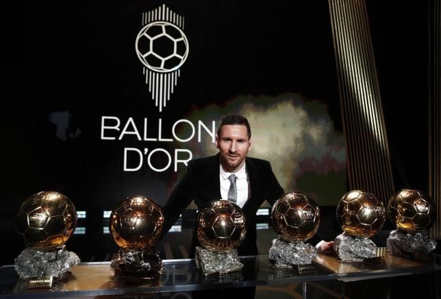 Six time winner Lionel Messi