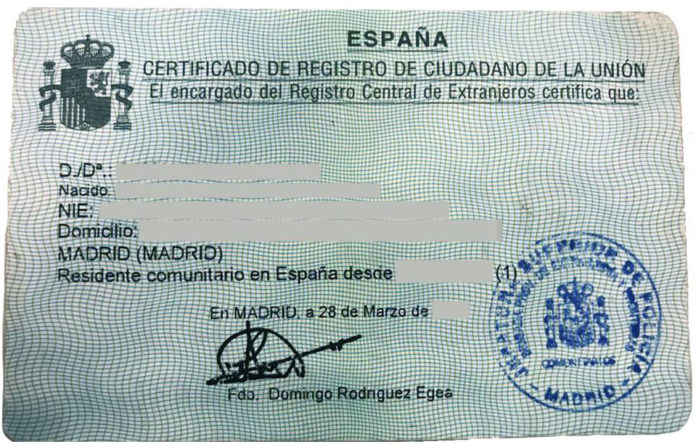 Spain launches new residency document for UK nationals
