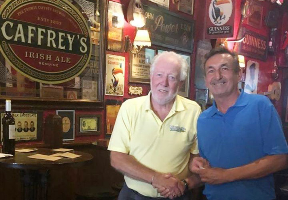 The winner, Jim Barbour with Captain Ernie Wilson