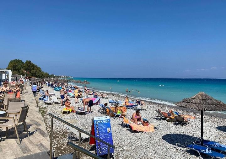Avra beach resort, Rhodes.