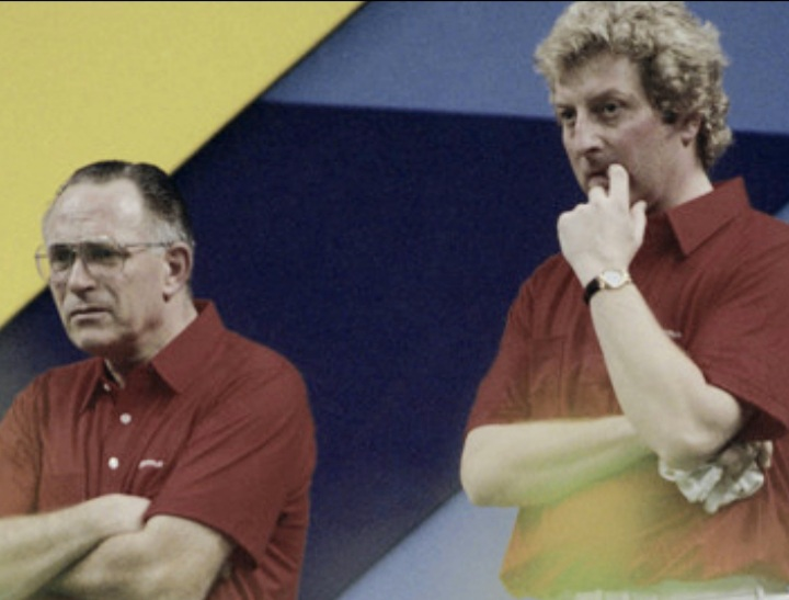 David-Bryant-and-Tony-Allcock-during-their-Pairs-final-World-Indoor-Bowls-Championships-Final-in-1991-at-Preston-Guild-Hall