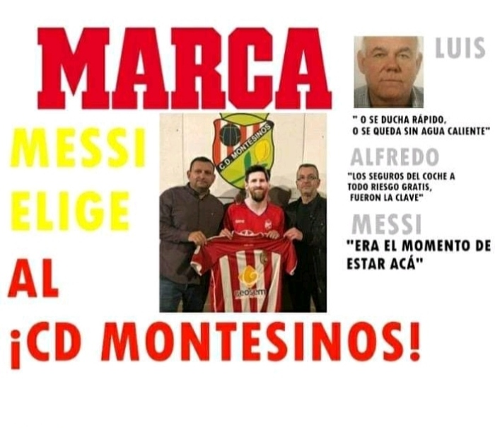 CD Montesinos transfer coup signing Messi from Barca