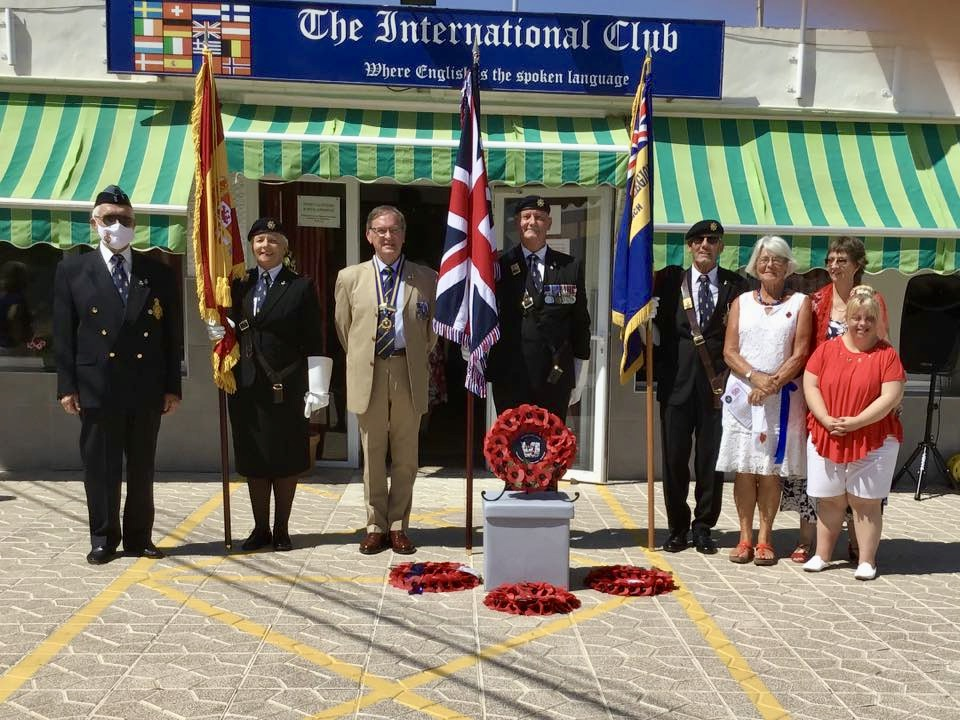 Alicante RBL commemorate the 75th Anniversary of VJ Day and Armed Forces Day