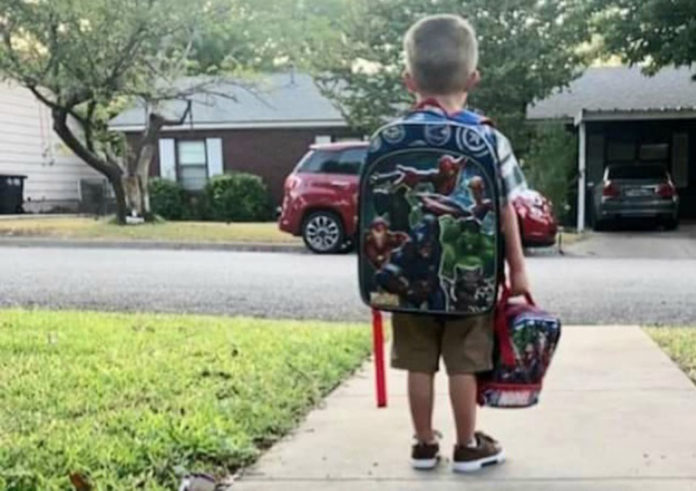 Los Montesinos children return to school