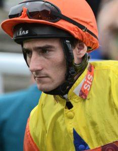 Jockey Daniel Tudhope rides veteran Lord Glitters at Ayr.