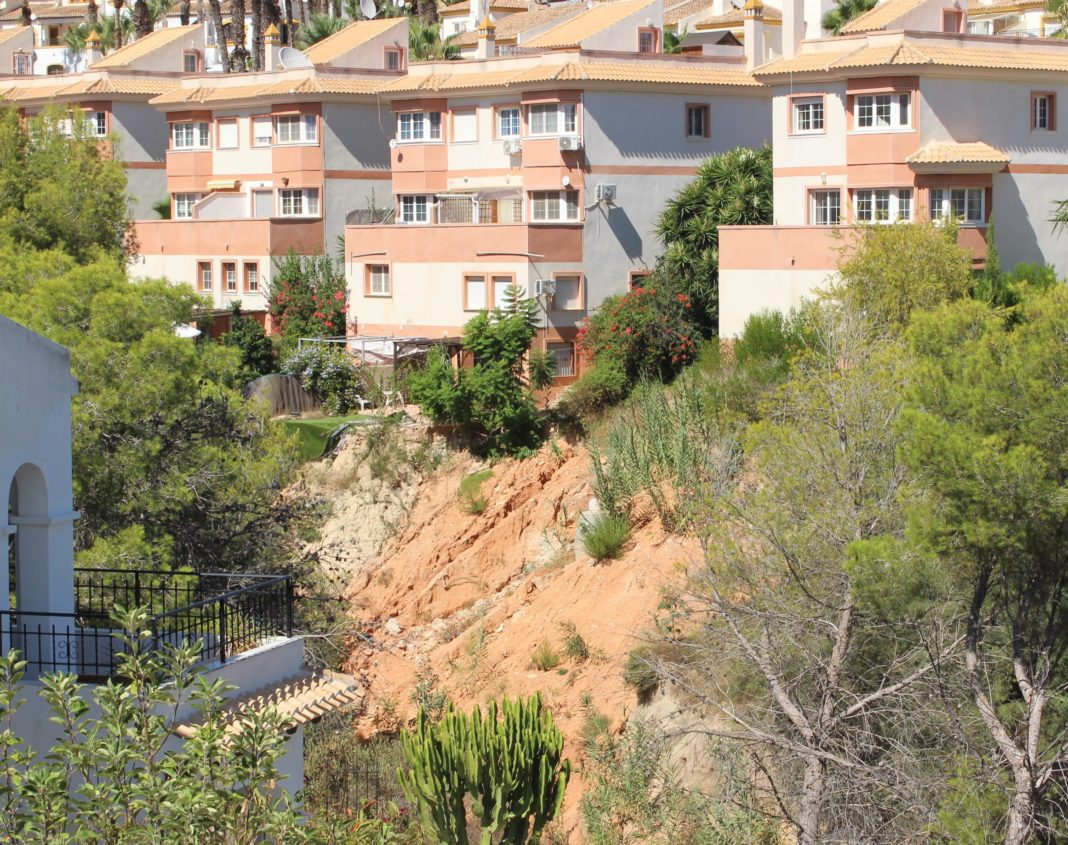 The barranco is gradually being washed away