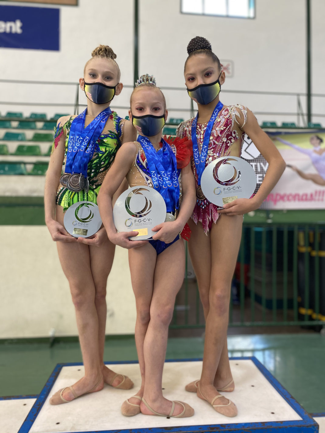 Raining medals on Jennifer Colino Rhythmic Gymnasts