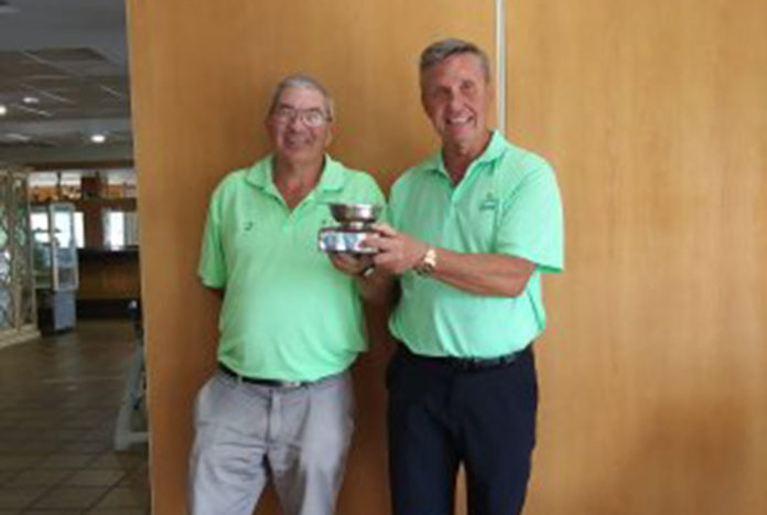 Winners of the trophy were Nigel Siddall and Peter Gardiner with 46 points,