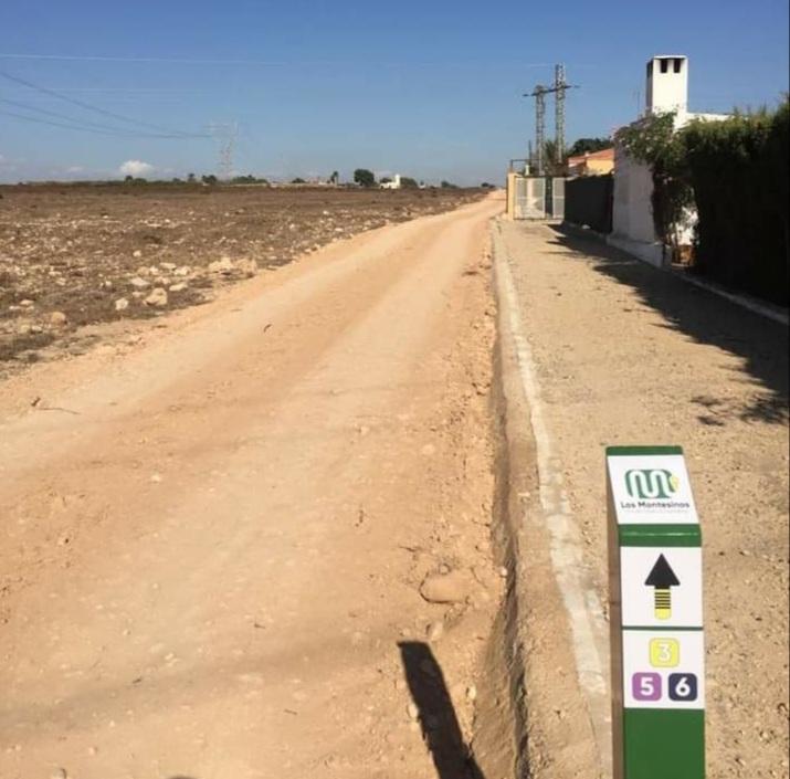 Road improvement in Los Montesinos