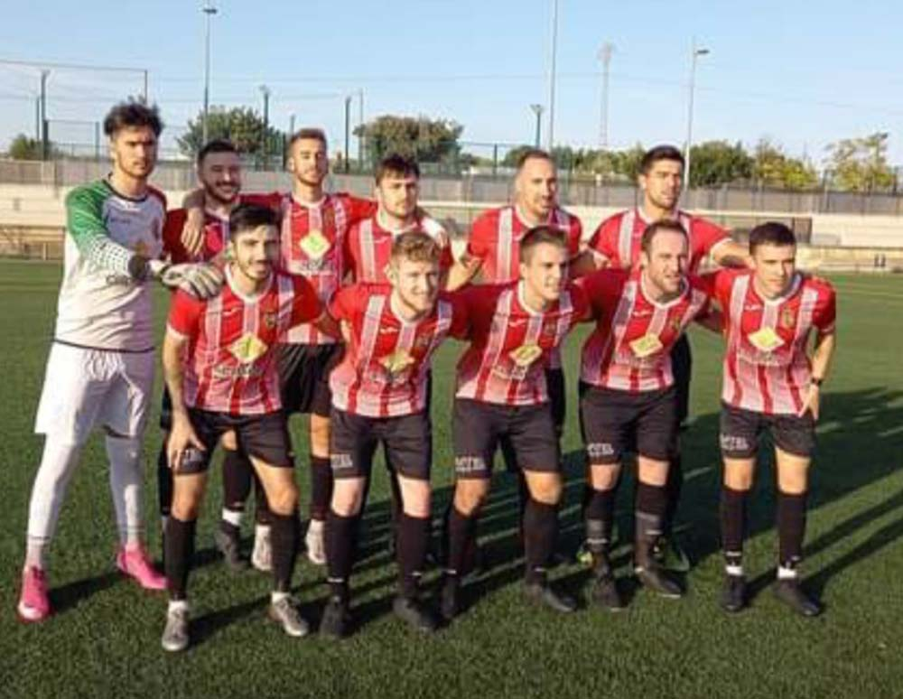 CD Montesinos line-up in Valencia 1st Regional G10 win against UD Aspense 'A'. Photos: Full Monte SC.