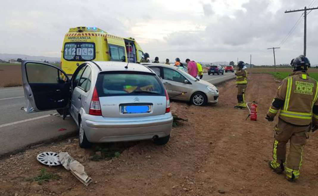 Female driver dies in a collision between two vehicles in Torre Pacheco