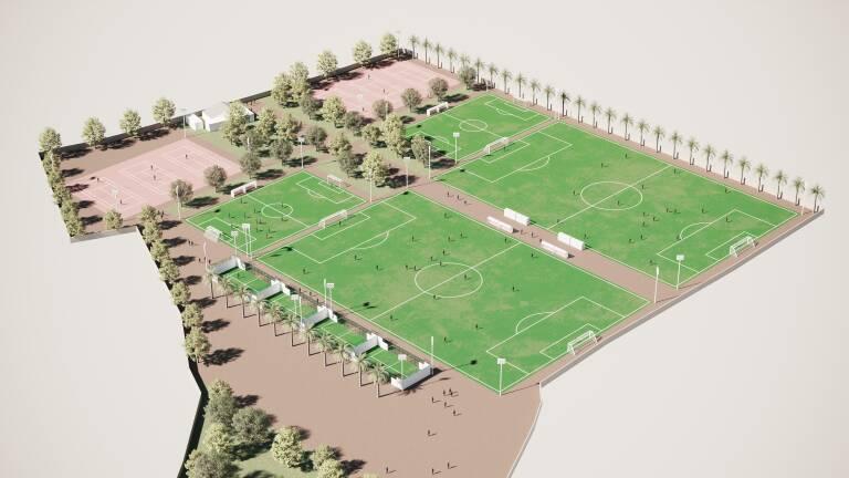 Virtual recreation of the sports complex designed by El Plantío Golf Resort