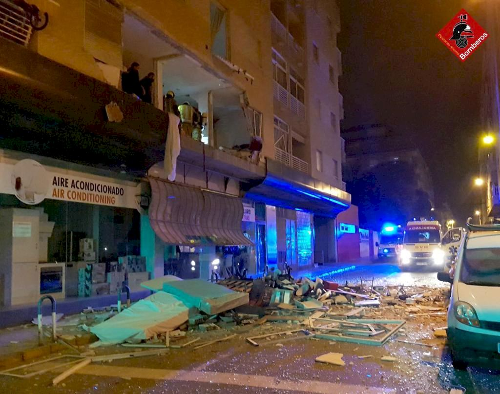 Large explosion in a house in Torrevieja