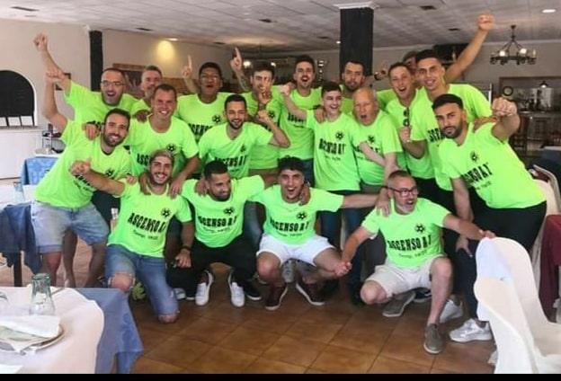 Sporting Dolores CF celebrate promotion post-Covid lockdown.