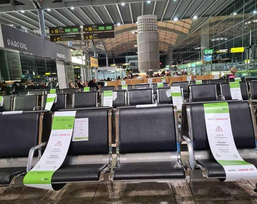 Traffic at Alicante-Elche airport fell by 88% in November