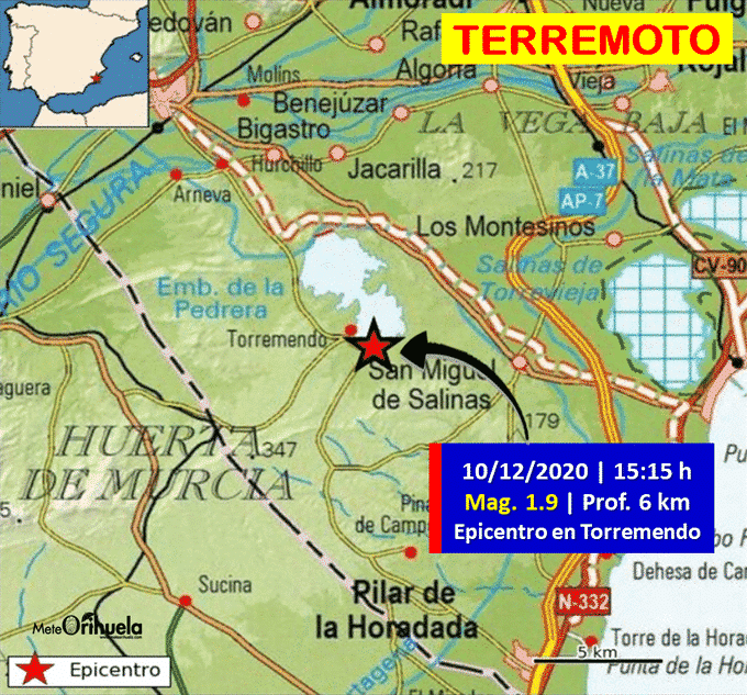 Minor earthquake in Torremendo