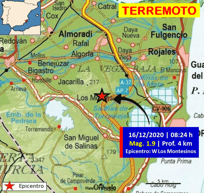 Seismic information. Los Montesinos Earthquake