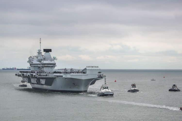 HMS Prince of Wales will not go to the US for Westlant next year, in a bid to save £2m (Picture: Royal Navy).