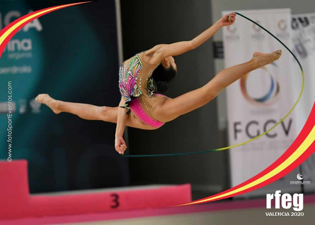 Gymnast Lucía Leshan Cañas Mendo won the silver medal