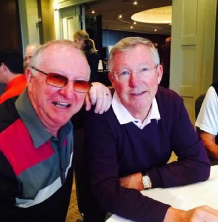 Dennis Taylor and Sir Alex Ferguson: Golf buddies. Photo: Twitter.