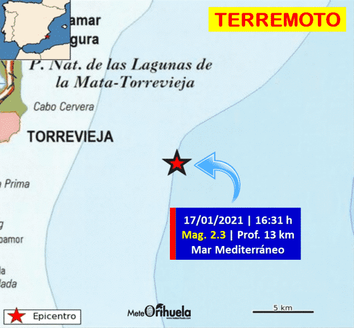Local earthquake of 2.3 magnitude