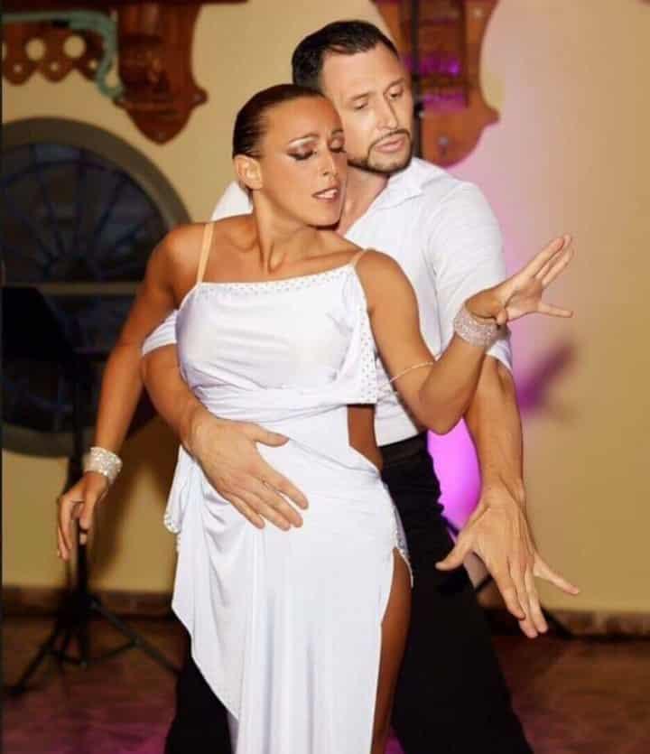 Katie Street with Russian dancer Alex Vayner.