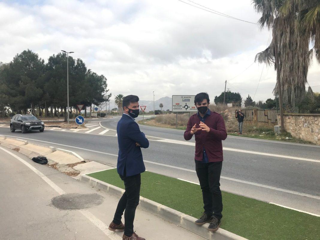 The councillors of Urbanism in Orihuela and Bigastro, José Aix and Antonio Meseguer