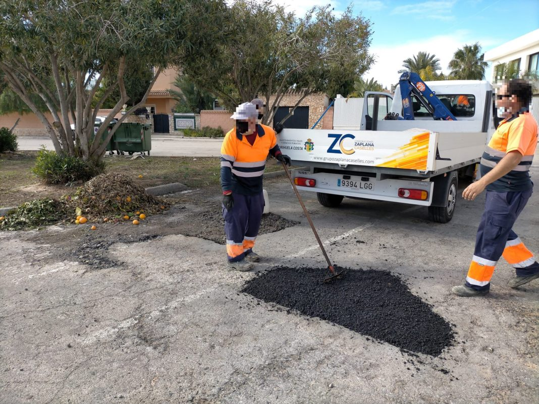 Building materials ordered for Orihuela Costa Roadworks